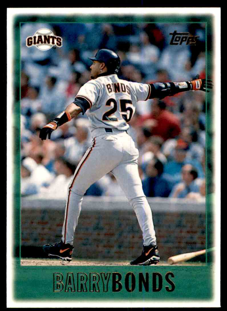 1997 Topps Barry Bonds #1 card front image