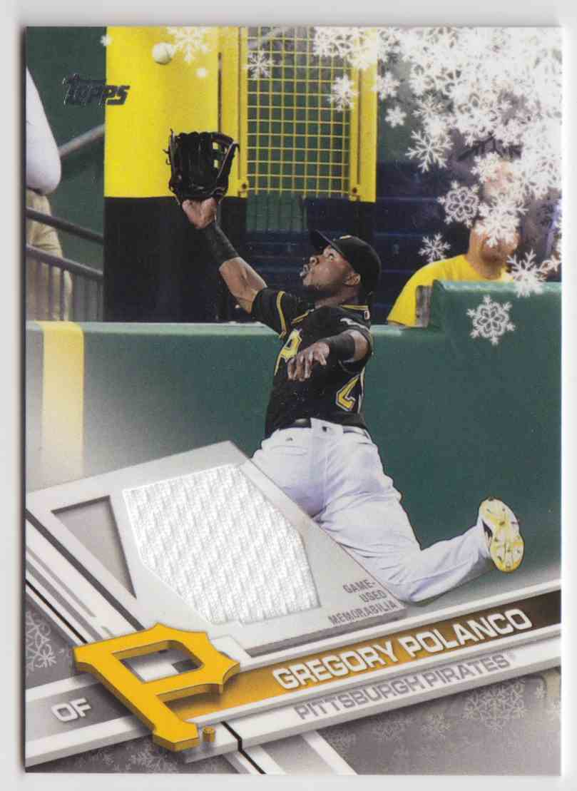 2017 Topps Holiday Relics Gregory Polanco #R-GP card front image
