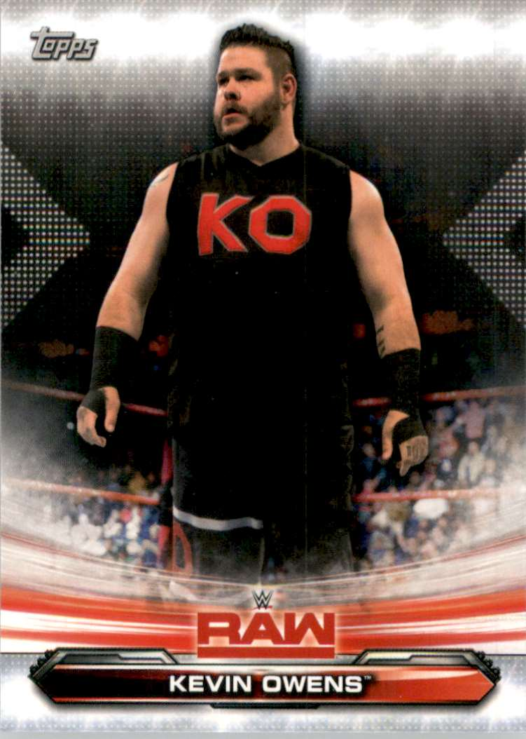 2019 Topps Wwe Raw Kevin Owens #42 card front image