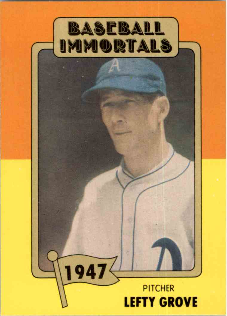 1980 Baseball Immortals 1st Printing Lefty Grove 52 On