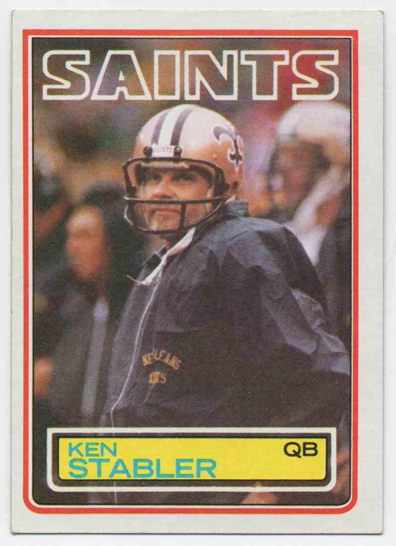 1983 Topps Ken Stabler #118 card front image