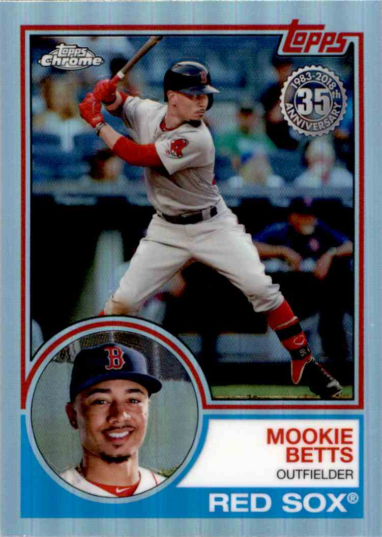 2018 Topps Chrome 35th Anniversary Mookie Betts #83T-4 card front image