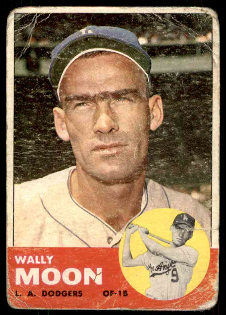 1963 Topps Wally Moon #279 card front image