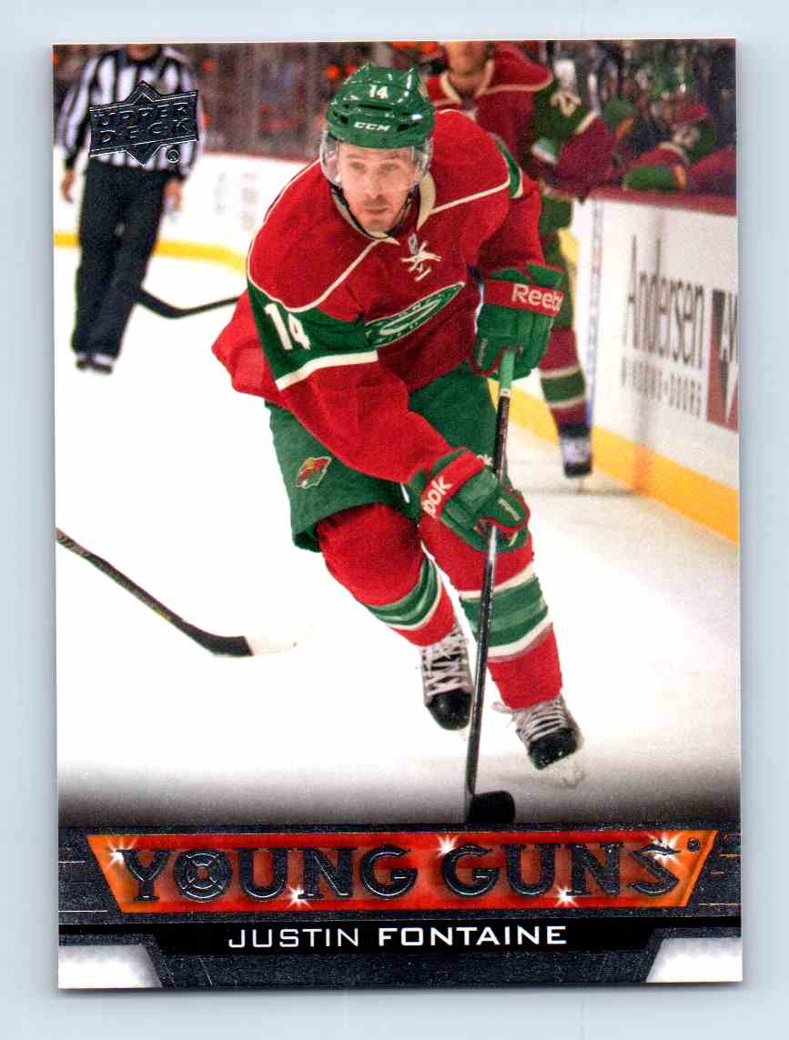 2013-14 Upper Deck Young Guns Justin Fontaine #232 card front image