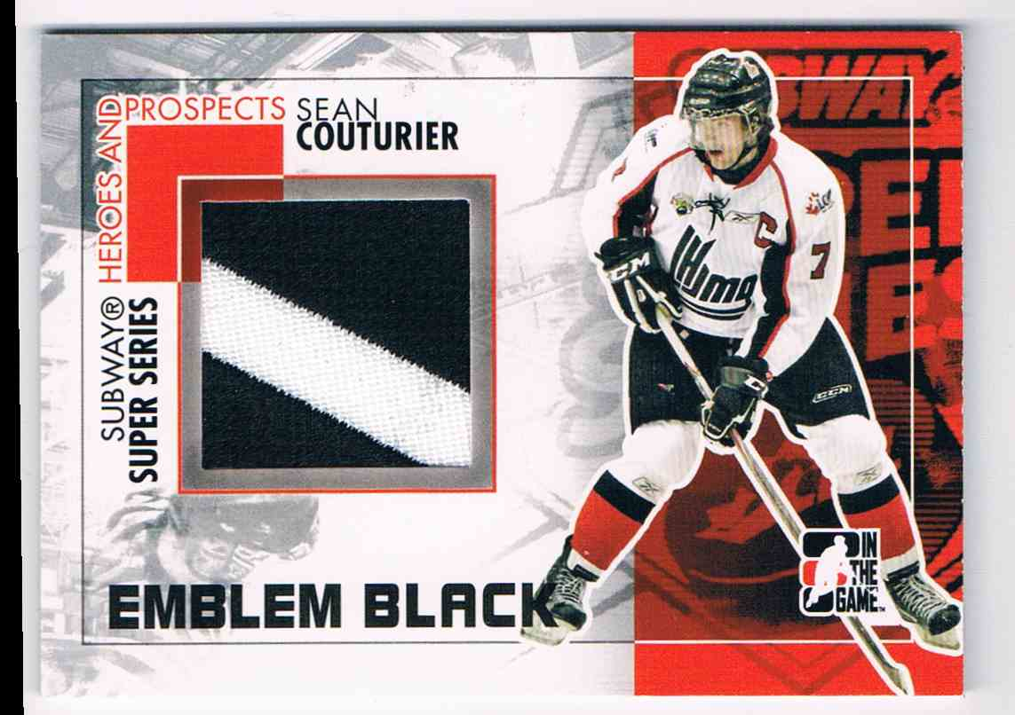 2010-11 ITG Heroes And Prospects Subway Series Emblems Black Subway Series Emblems Black Sean Couturier #SSM14 card front image