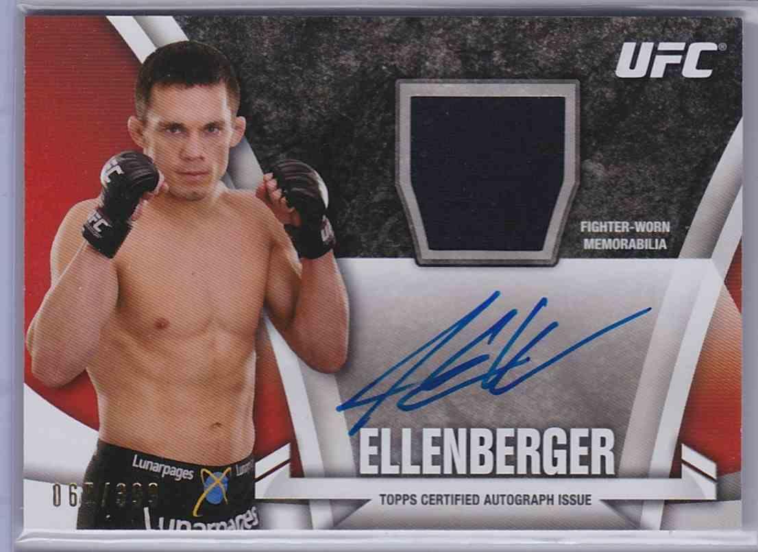 2013 Topps UFC Knockout Fighter Relics Autographs Jake Ellenberger #KARJE card front image