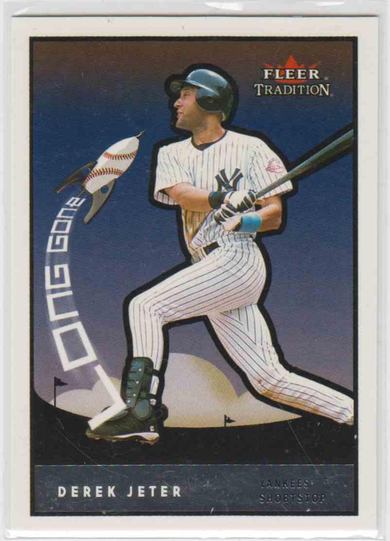 2003 Fleer Tradition Long Gone Derek Jeter #18 card front image