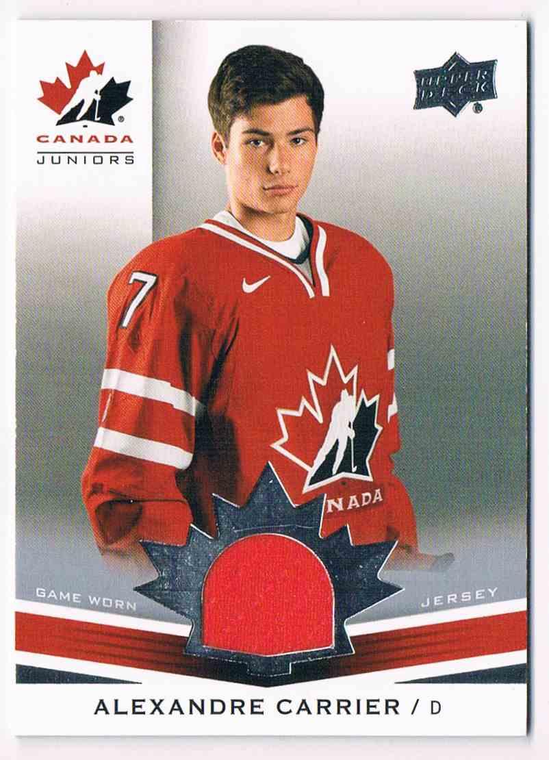 2014-15 Upper Deck Canada Juniors Alexandre Carrier #152 card front image