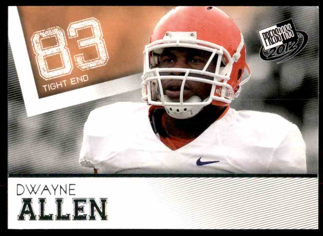2012 Press Pass Dwayne Allen #1 card front image