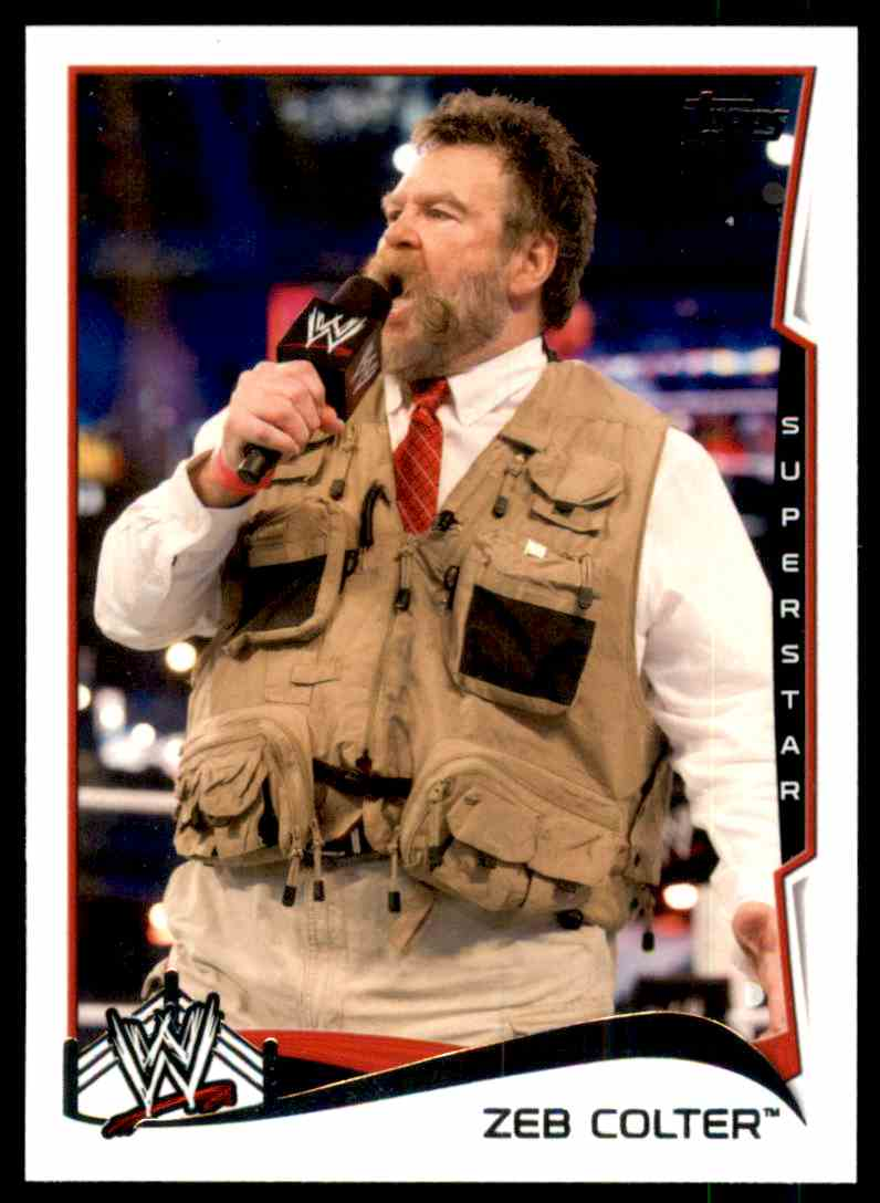 2014 Topps Wwe Zeb Colter #53 card front image