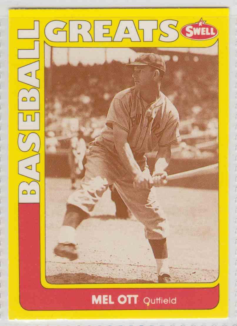 1991 Swell Baseball Greats Mel Ott 144 On Kronozio
