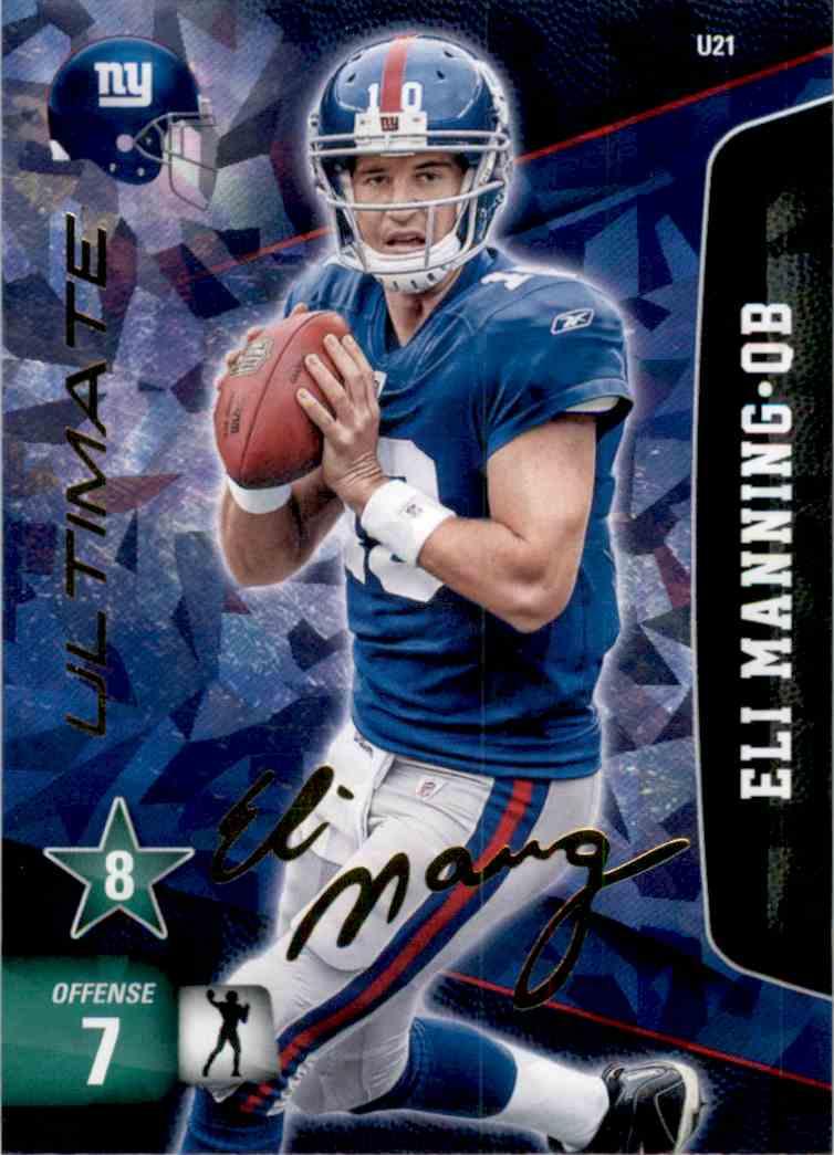 2011 Adrenalyn XL Extra Signature Eli Manning #U21 card front image