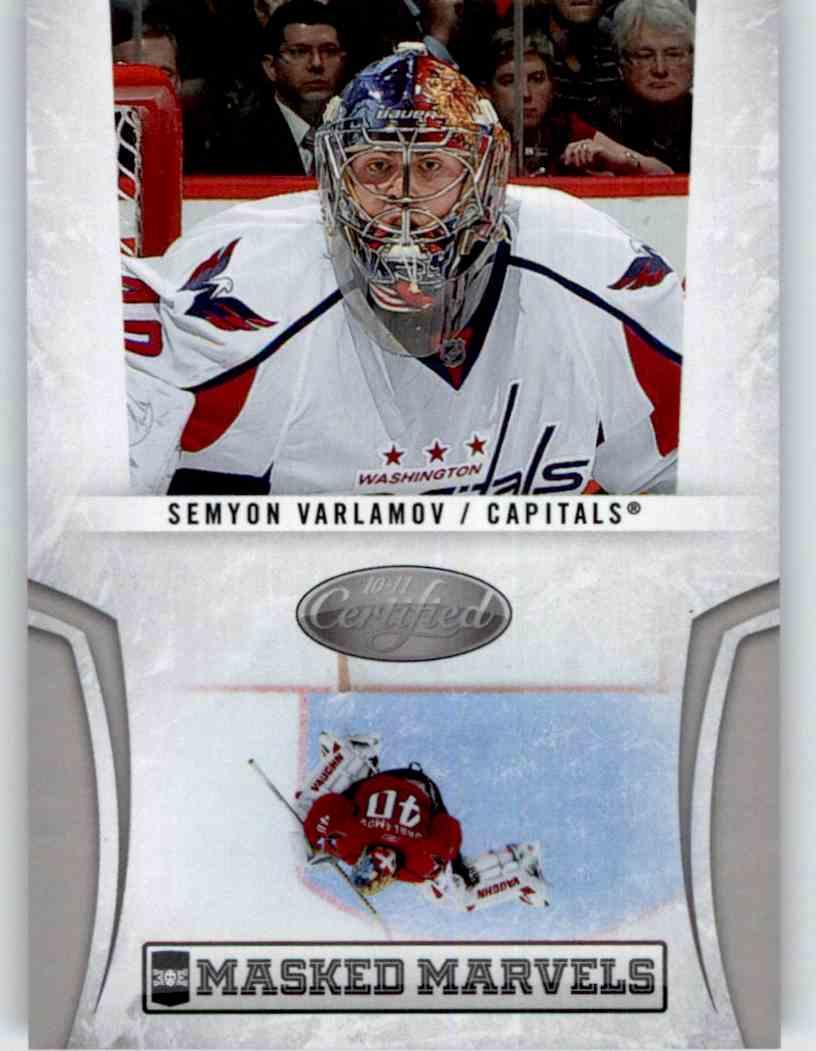 2010-11 Panini Certified Masked Marvels Semyon Varlamov #2 card front image