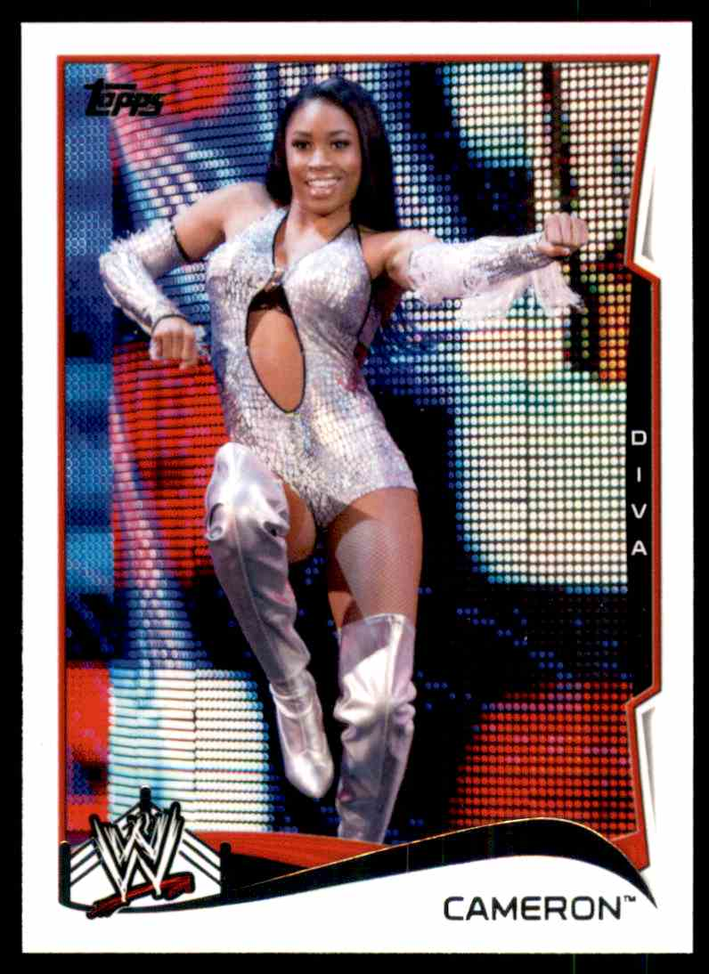 2014 Topps Wwe Cameron #10 card front image