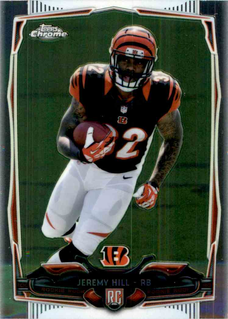 2014 Topps Chrome Jeremy Hill RC #125 card front image