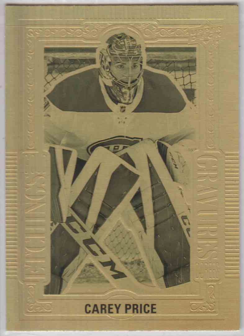2018-19 Upper Deck Tim Horton Etchings Gold Carey Price #GE-7 card front image