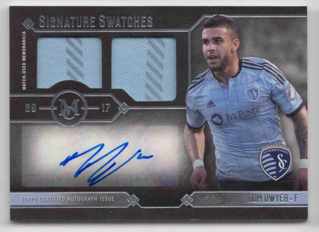 2017 Topps MLS Museum Collection Dom Dwyer #MCAR-DDW card front image