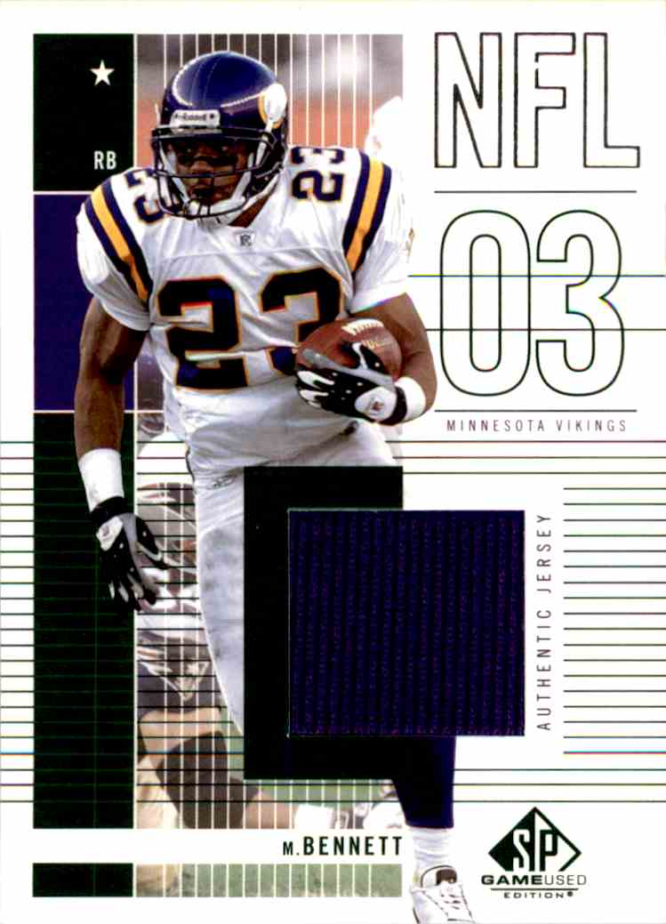2003 Upper Deck Michael Bennett #142 card front image