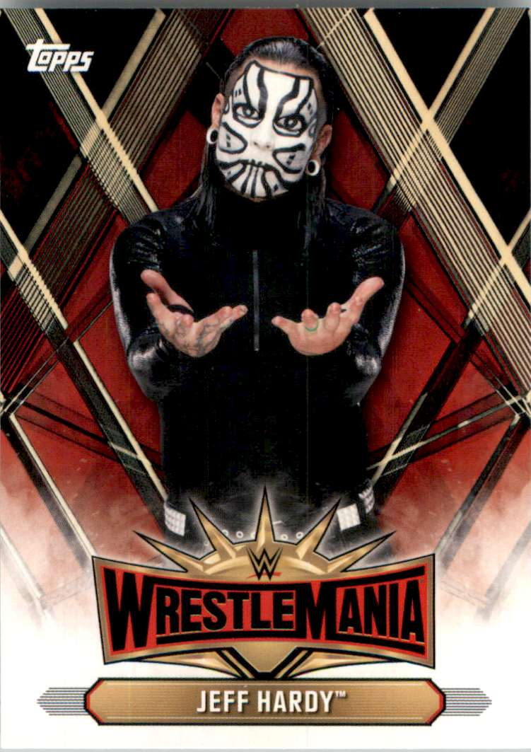 2019 Topps Wwe Road To WrestleMania WrestleMania 35 Roster Jeff Hardy #WM45 card front image