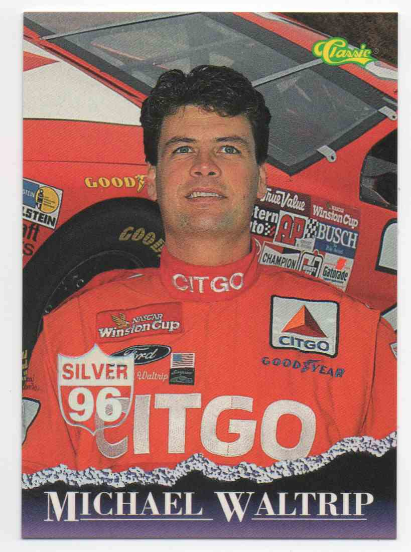 1996 Classic Silver Michael Waltrip #26 card front image