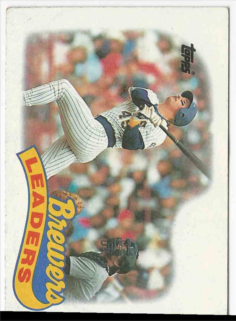1987 Topps Brewers Leaders #759 card front image