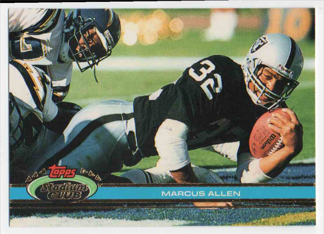 1991 Stadium Club Marcus Allen #8 card front image