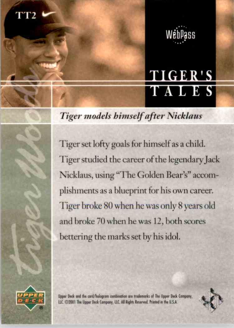 2001 Upper Deck Tiger's Tales Tiger Woods #TT2 card back image
