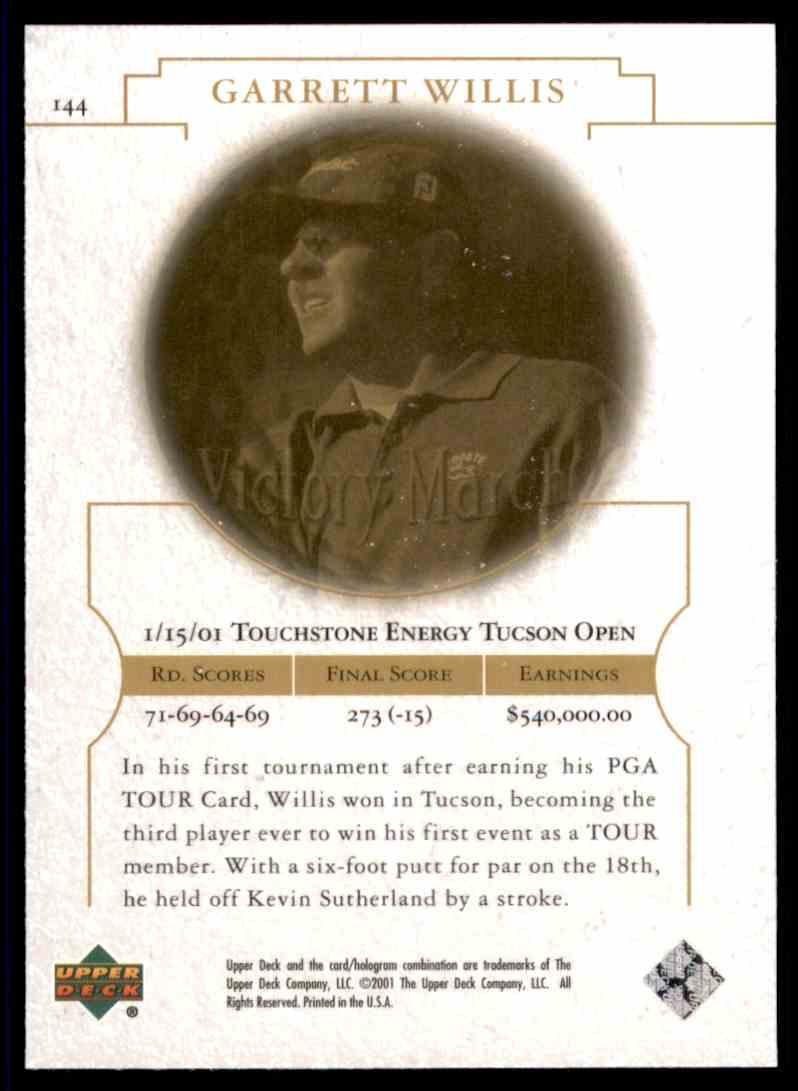 2001 Upper Deck Nick Faldo Tt #144 card back image