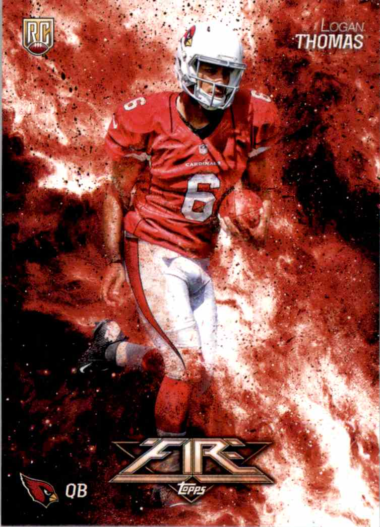 2014 Topps Fire Logan Thomas RC #108 card front image