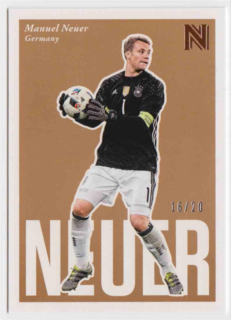 2017 Panini Nobility Soccer Short Print Manuel Neuer #96