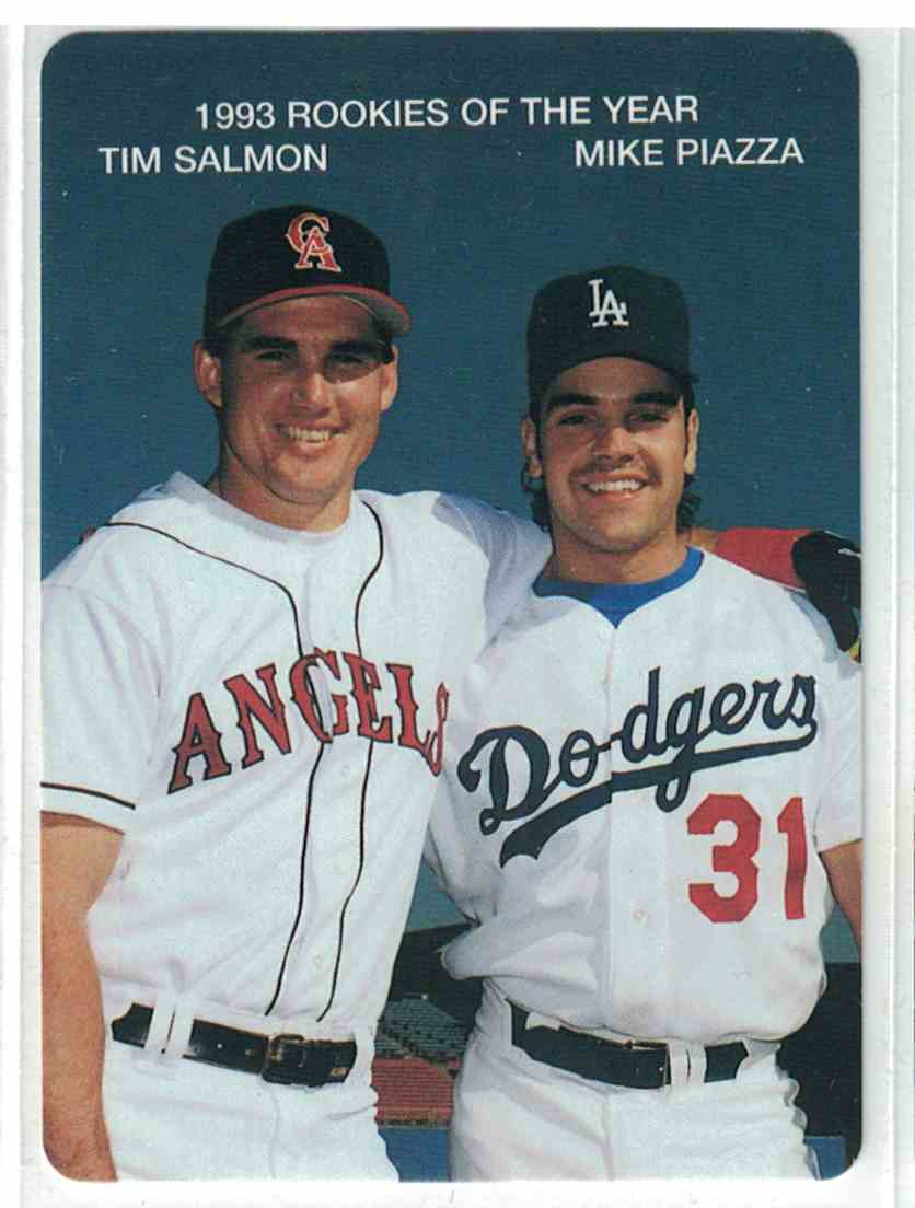 1994 Mothers Cookies Tim Salmon Mike Piazza 1993 Roy39s 2 On