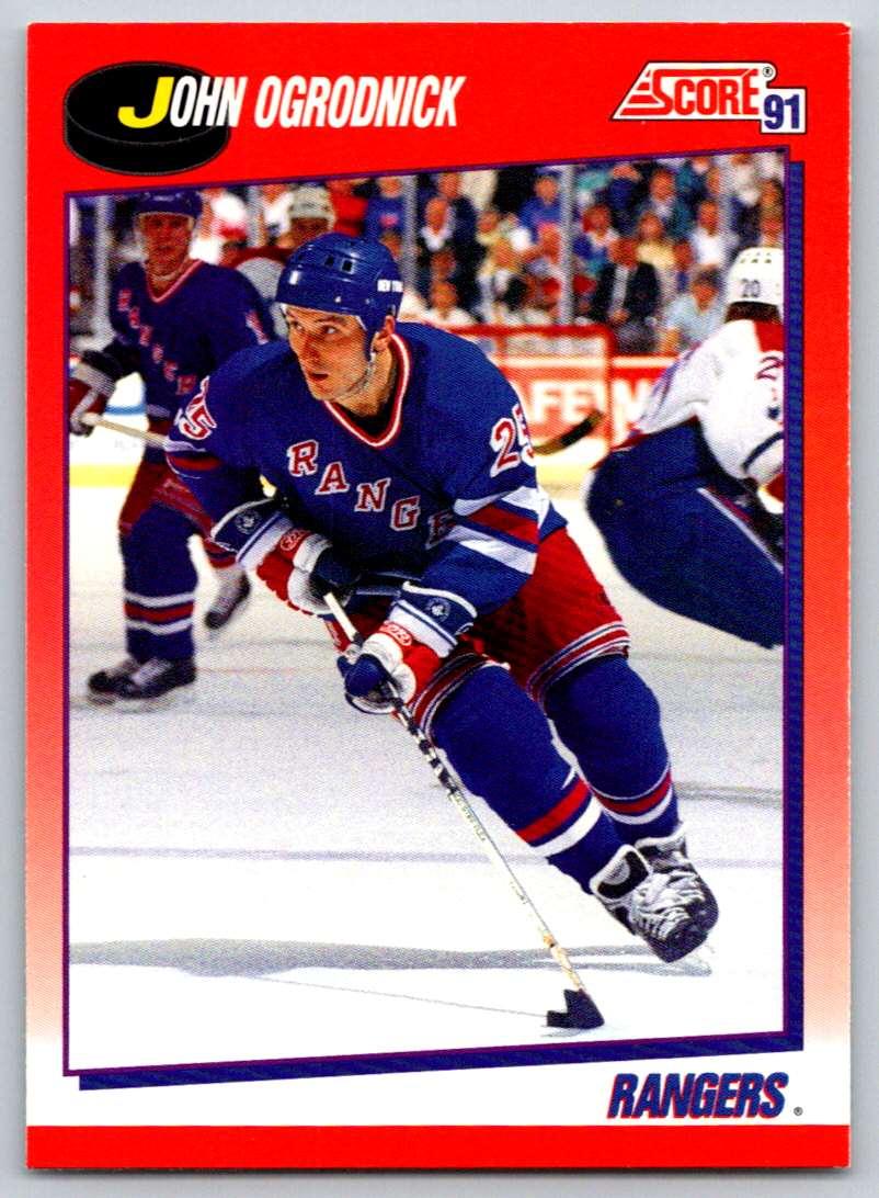 1991-92 Score Canadian Bilingual John Ogrodnick #36 card front image