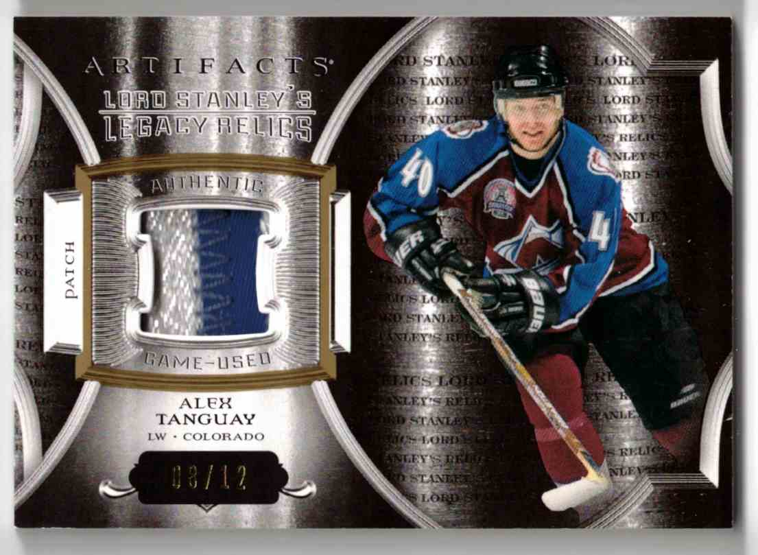 2015-16 Upper Deck Artifacts Lord Stanley's Legacy Relics Gold Alex Tanguay #LSLR-AT card front image