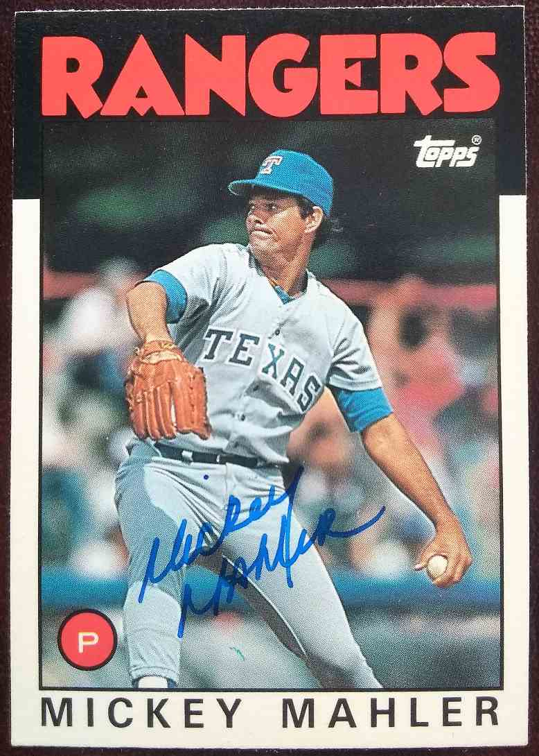 1986 Topps Traded Mickey Mahler #68T card front image