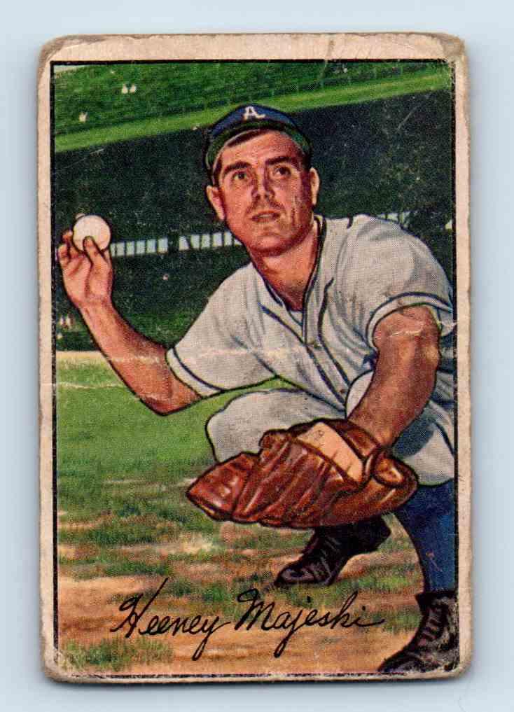 1952 Bowman Hank Majeski #58 card front image