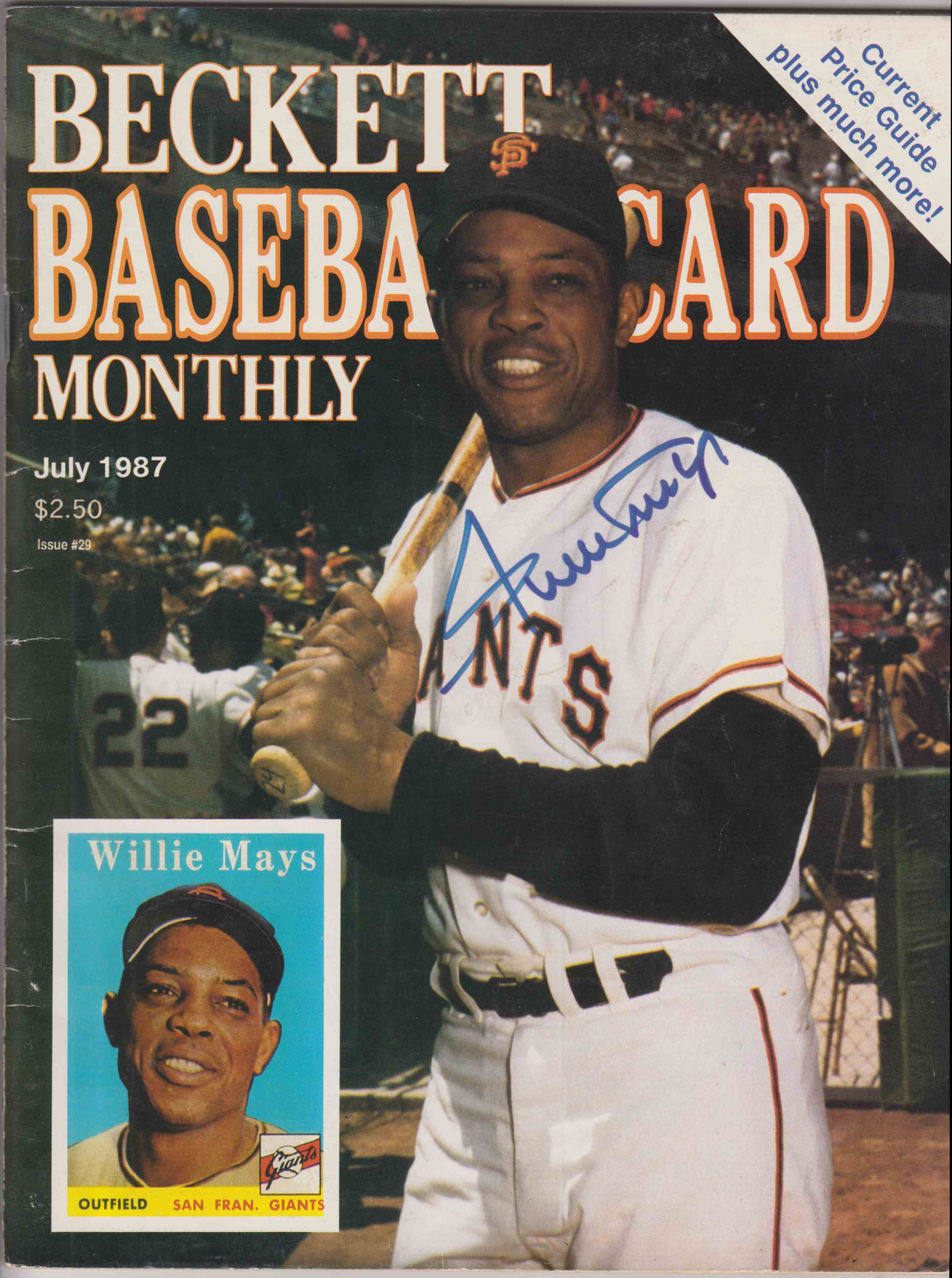 1987 Beckett July 1987 Magazine Willie Mays card front image