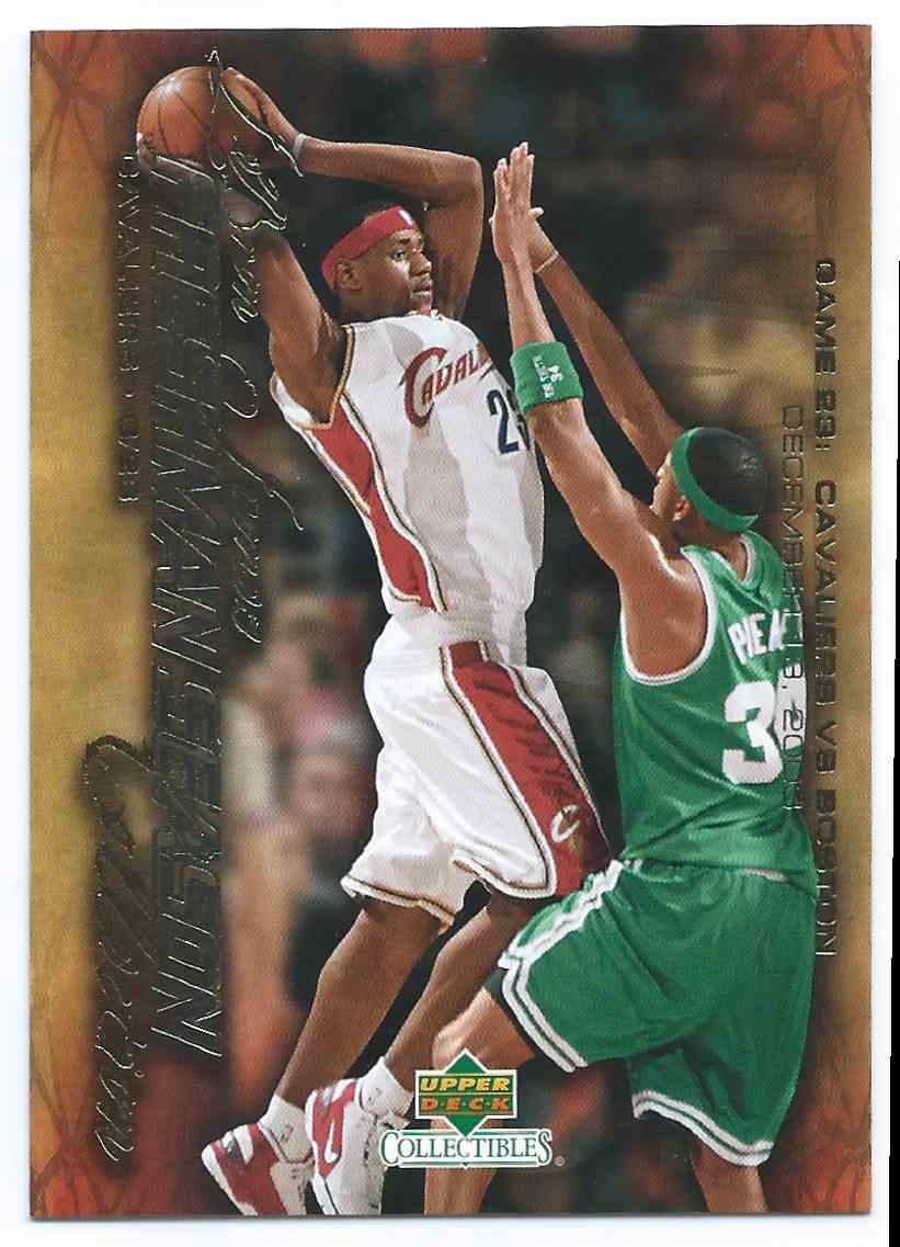 2003-04 Upper Deck LeBron James Freshman Season Collection Freshman Season LeBron James (Rc) Rookie Vs. Paul Pierce #24 card front image
