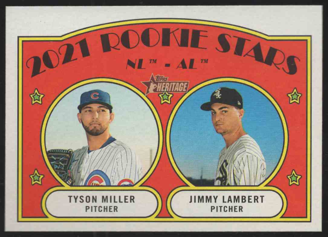 2021 Topps Heritage Tyson Miller / Jimmy Lambert #261 card front image