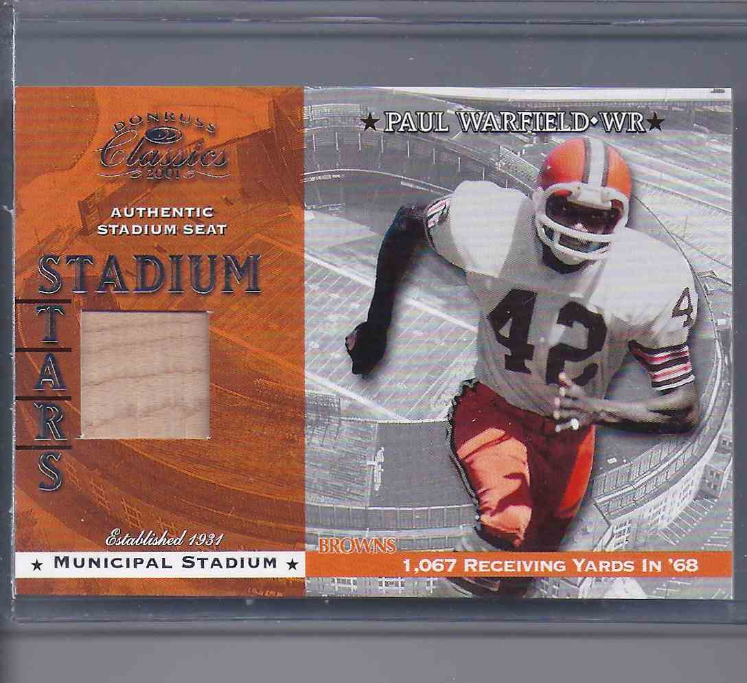 2001 Donruss Classics Stadium Stars Paul Warfield #SS8 card front image