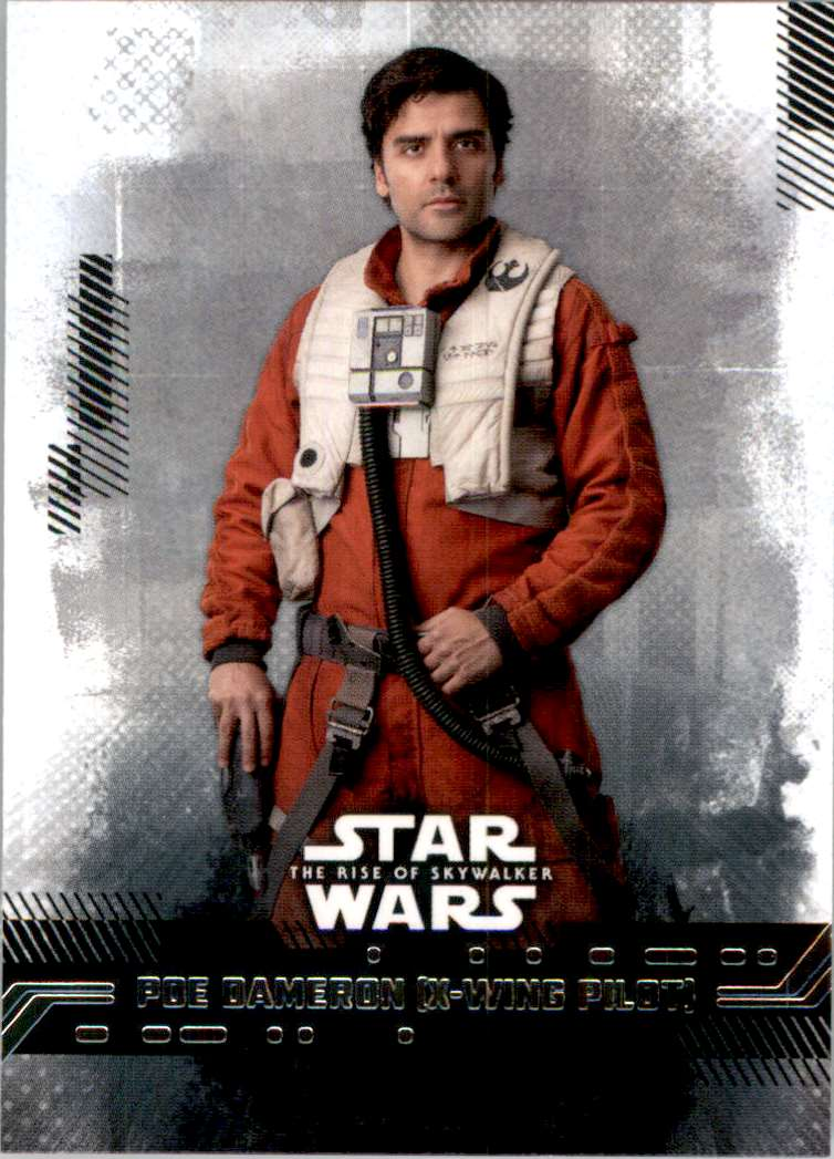 2019 Star Wars The Rise Of Skywalker Series One Poe Dameron (X-Wing Pilot) #16 card front image