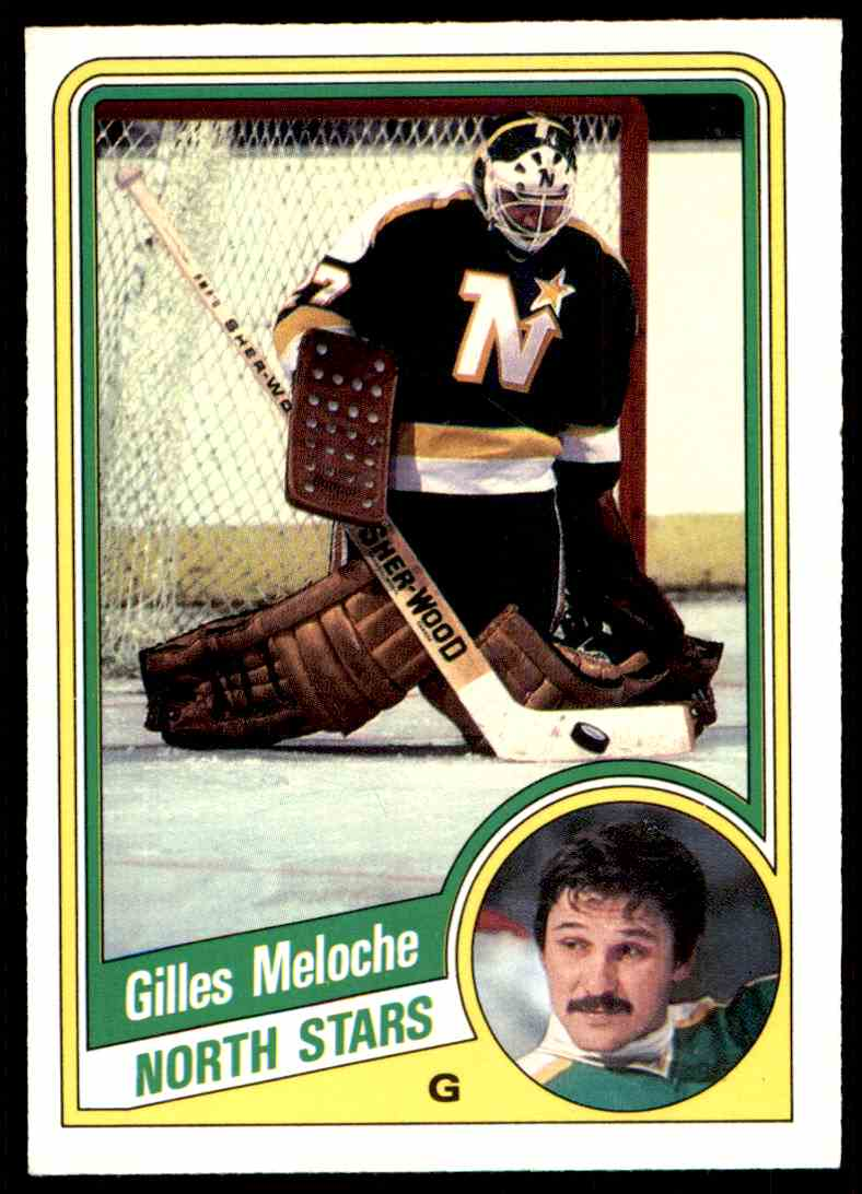 1984-85 O-Pee-Chee Gilles Meloche #104 card front image