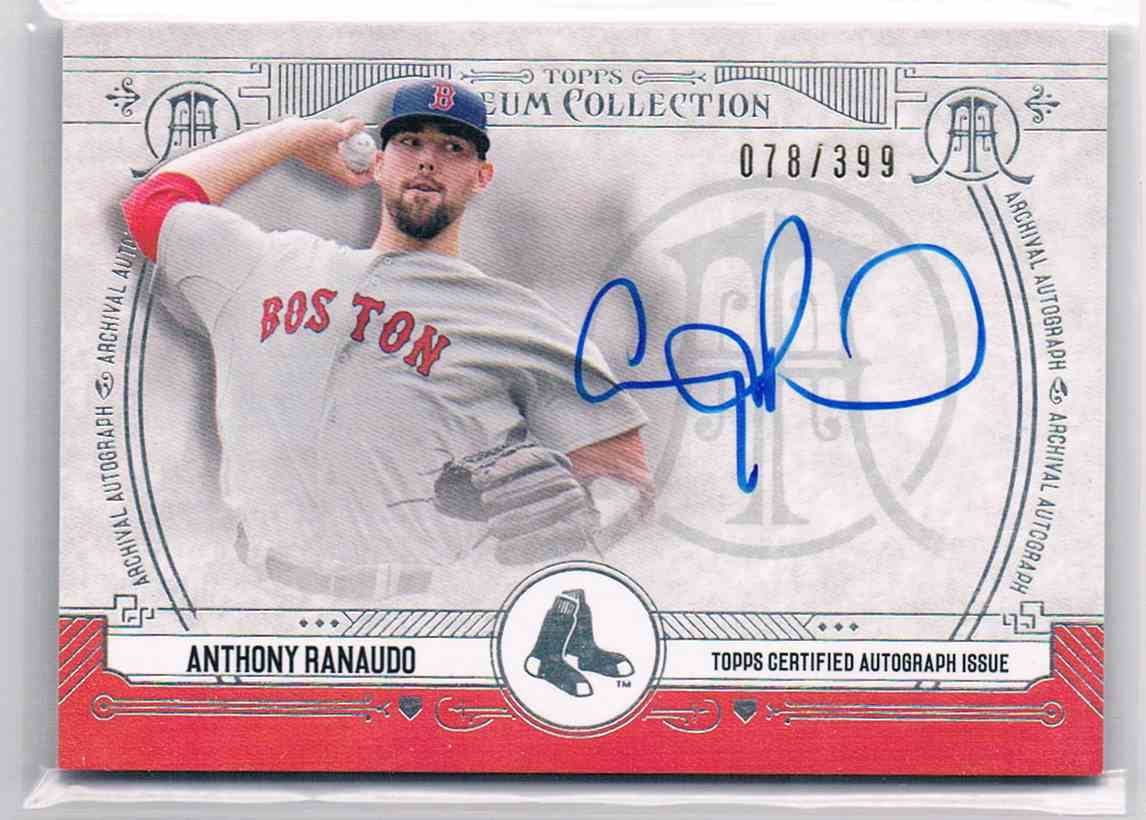 2015 Topps Museum Collection Anthony Ranaudo #AA-ARA card front image