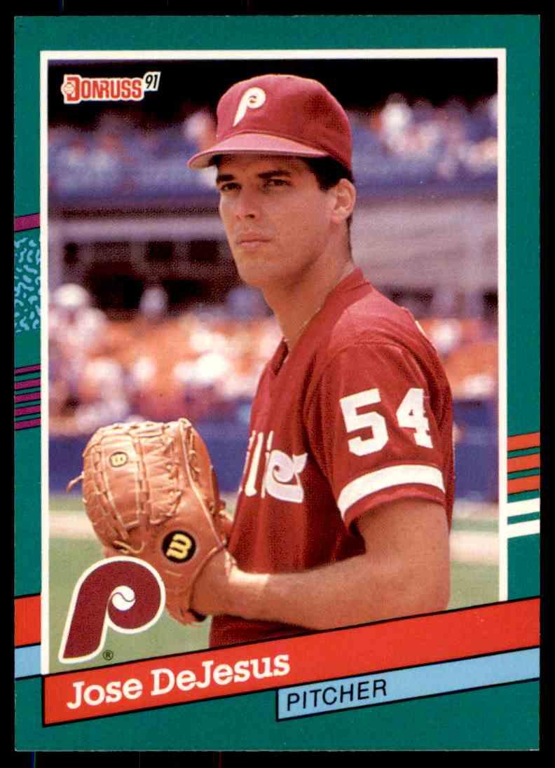 1991 Donruss Baseball Jose Dejesus 596 On Kronozio