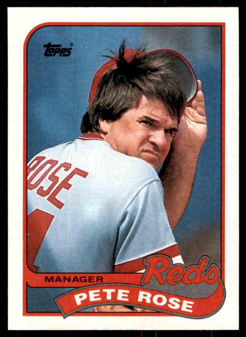 1989 Topps Baseball Pete Rose 505 On Kronozio