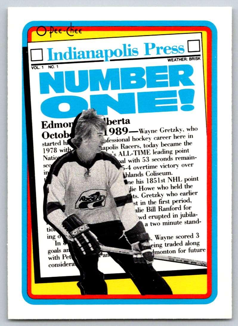1990-91 O-Pee-Chee Wayne Gretzky #1 card front image