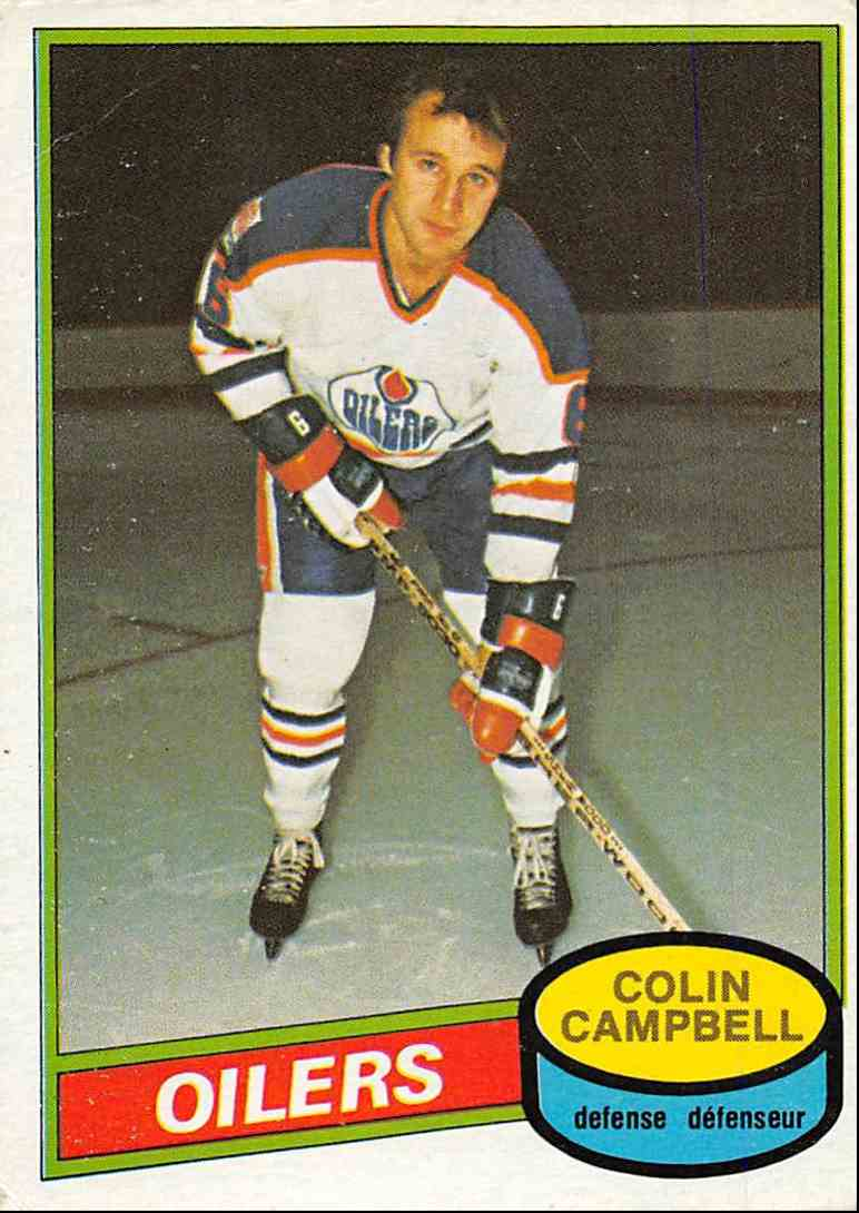 1980-81 O-Pee-Chee Colin Campbell #380 card front image