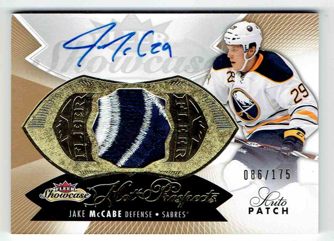 2014-15 Fleer Showcase Hot Prospects Jake McCabe #182 card front image