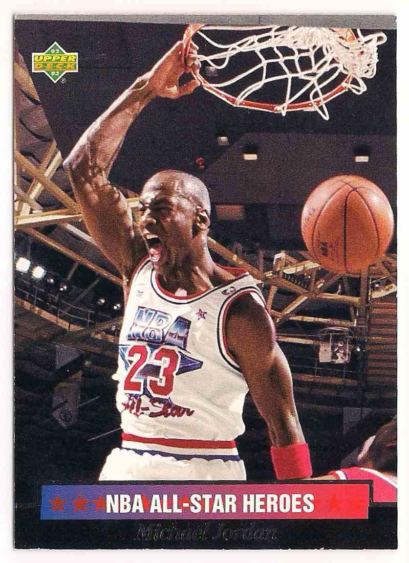 1993-94 Upper Deck NBA All Star Heros Michael Jordan #15 card front image