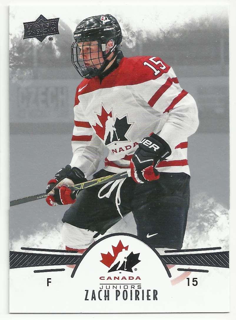 2016-17 Upper Deck Team Canada Juniors Zach Poirier #66 card front image