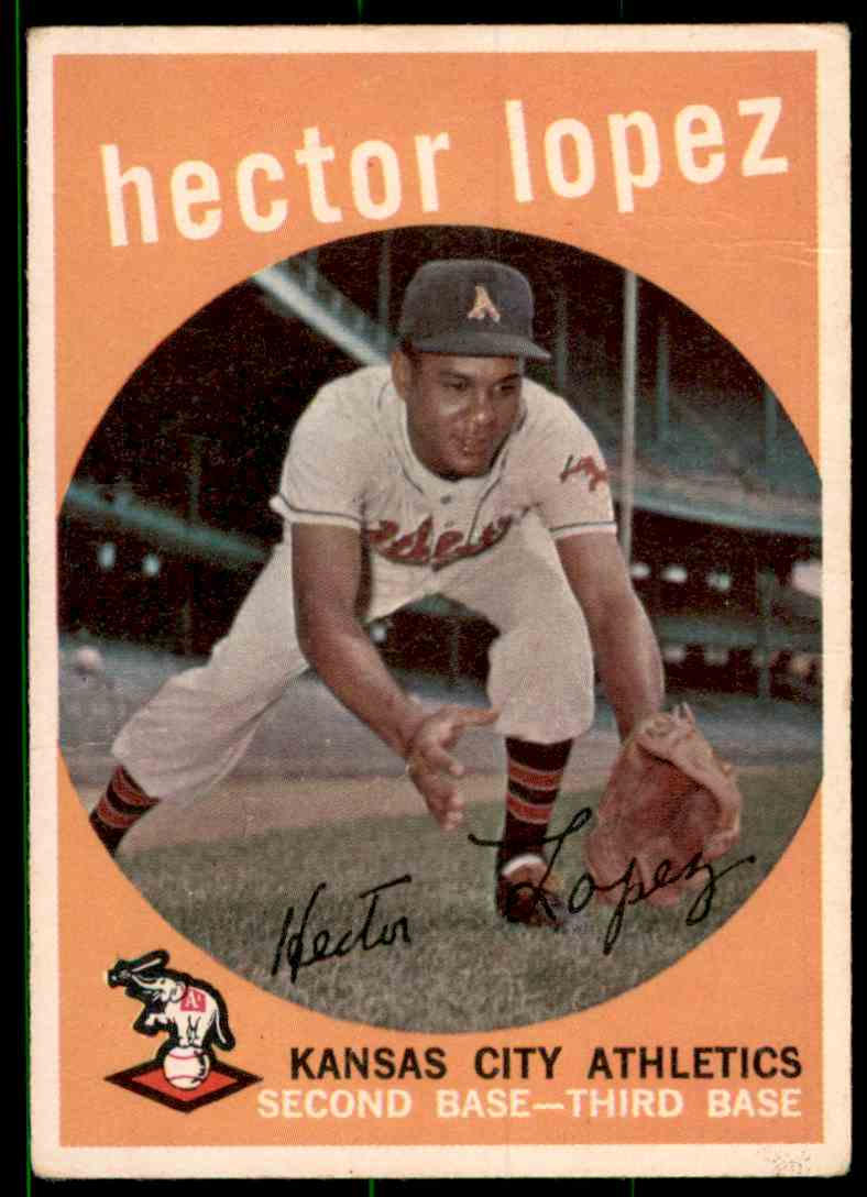 1959 Topps Hector Lopez #402 card front image